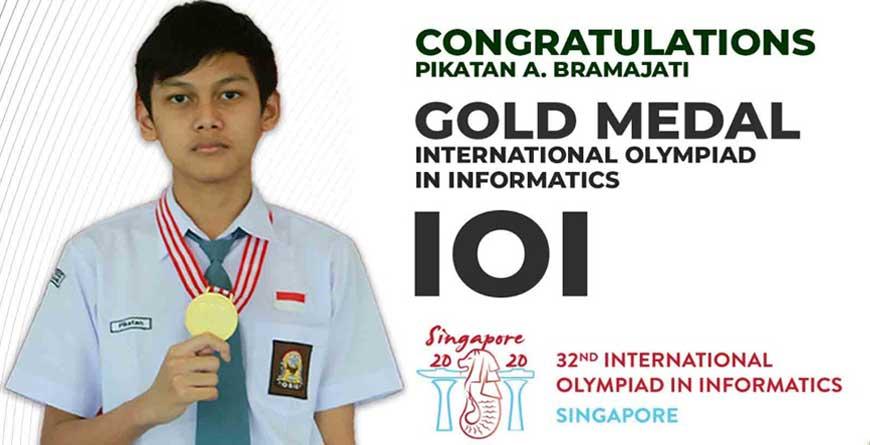 Pikatan Arya Bramajati adalah Siswa SMA Semesta Semarang yang berhasil meraih medali Emas pada IOI 2020