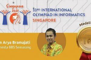 Sekolah Semesta meraih medali emas pada ajang International Olympiad in Informatics (IOI) 2021